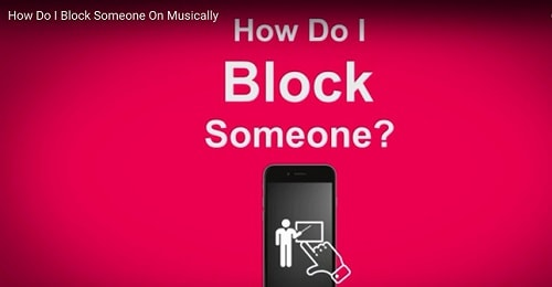 Block someone on Musically
