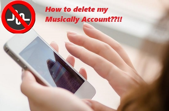 How to delete musically Account
